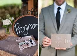 Traditional Wedding Program 15 Non Traditional Wedding Programs Brit Co