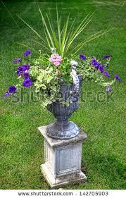 Urn Planters With Pedestal Flower Planter Stock Images Royalty Free Images U0026 Vectors