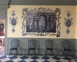 wallpaper in dining room two nerdy history girls recreating the 18thc