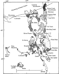 Cripple Creek Colorado Map paleo and mesoproterozoic granite plutonism of colorado and