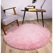pink circle shag area rug ontario kukoon