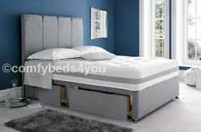 Suede Bed Frame Faux Suede Bed Frames Divan Bases With Headboard Ebay