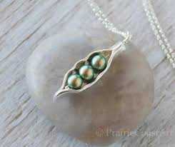 peas in a pod charm three peas in a pod necklace silver pea pod s