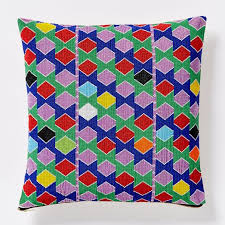 Cusion Cover Beaded Multicolor Hexagon Pillow Cover West Elm