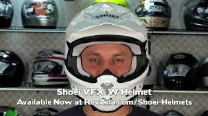 shoei motocross helmet shoei vfx w helmet review at revzilla com youtube