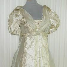 Cream Silk Drapes English Regency Jane Austen Dress In Cream Silk With Embroidered