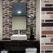 black onyx mosaic magic gel self adhesive backsplash wall tiles 9