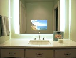 Waterproof Mirror Tv Bathroom Tv Mirrors For Bathroom Image Of Large Framed Mirrors For