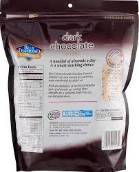 blue diamond dark chocolate flavored oven roasted almonds 25 oz