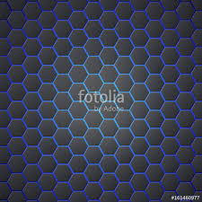 Seamless Backdrop Honeycombs Abstract 3d Hexagonal Seamless Backdrop With Blue