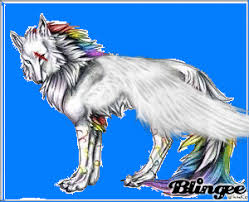 rainbow wolf feather picture 126384557 blingee com