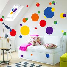cuisine coloré couleur cercle diy mur autocollant coloré pois bulle salle de