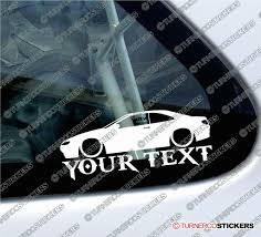 peugeot pininfarina 2x custom your text lowered car stickers peugeot 406 coupe
