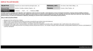 teller cover letter u0026 resume