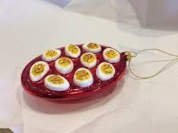 deviled egg plates another egg plate bountiful christmas my egg plate