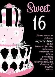 sweet 16 birthday invitations badbrya