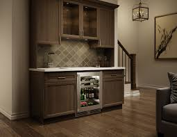 slim wet bar with perlick sottile beverage center interiordesign