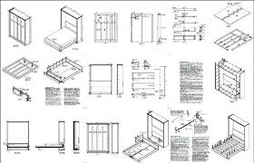 murphy bed plans bed more views twin size murphy bed plans free