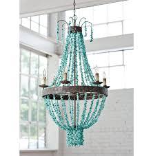 turquoise beaded chandelier pensacola coastal beaded turquoise metal chandelier kathy