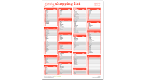 Shopping List Template Excel Grocery Shopping List Excel Template Savvy Spreadsheets