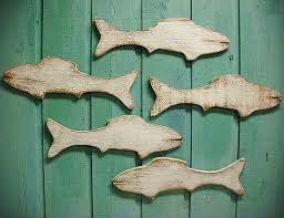 wall decor ideas abstract handmade wooden fish wall