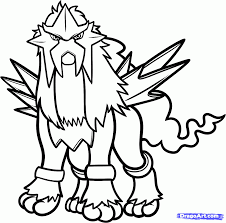 entei pokemon coloring pages tags pokemon coloring pages entei