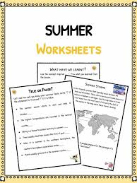 summer facts u0026 worksheets for kids