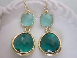 emerald green earrings emerald green earrings blue earrings bridesmaid earrings