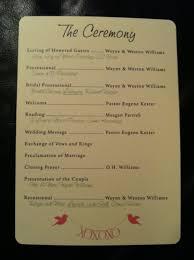 programs for wedding wedding programs