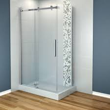 maax halo 48 in x 31 7 8 in frameless corner shower enclosure in