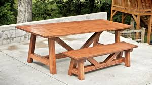 farm table with bench how to build a farmhouse table and benches for 250 woodworking