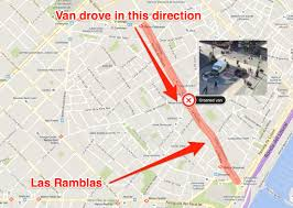 Spain On A Map by Barcelona Attack Picture Said To Show Attacker Leaving Las