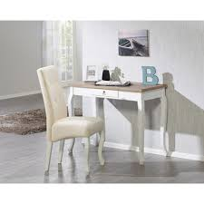 Schreibtisch 1m Kleiner Schreibtisch Im Antik Look Lackiert U0026 Cremeweiß