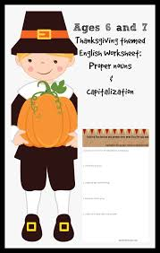 thanksgiving proper nouns and editing with free printable