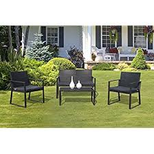 patio furniture sets best choice products 4 cushioned patio