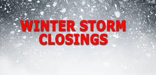 winter storm closings