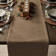 crate and barrel table runner grasscloth 90 brindle brown table runner crate and barrel