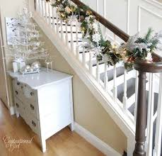 Handrail Christmas Decorations A Whole Bunch Of Christmas Staircase Decorating Ideas U2014 Style Estate