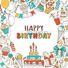 happy birthday card invitation on wood background birthday