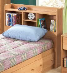 Bedroom Wall Unit Headboard Bedroom Casual Teenage Bedroom Decor Using Light Oak Wood Single