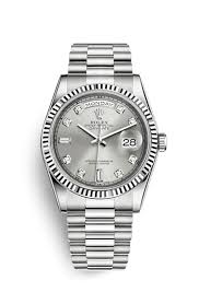 rolex day date 36 18 ct white gold 118239