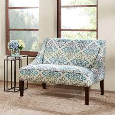 High Back Settee With Arms Amazon Com Avalon Swoop Arm Settee Teal See Below Kitchen U0026 Dining