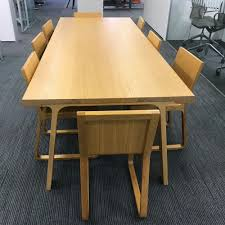 Oak Meeting Table Doble Meeting Table And Chairs Wooden Table And Chairs