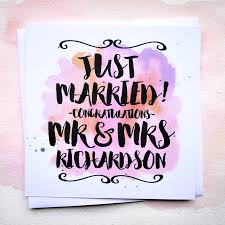 just married cards personalised just married wedding card by philly brit