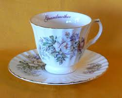 grandmother s bone china cups and saucers of bone china with flower design for each month