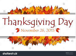 thanksgiving day banner background autumn leaves stock vector