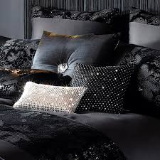 valaza black bedding and accessory range by kylie minogue at home
