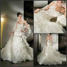 lace crytal dropped waist demetrios corset bodice sheer wedding