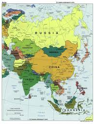 asain map map of asia political borders national capitals cities new capital