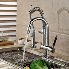 kitchen water faucet aliexpress buy chrome finish brass kitchen sink faucet two